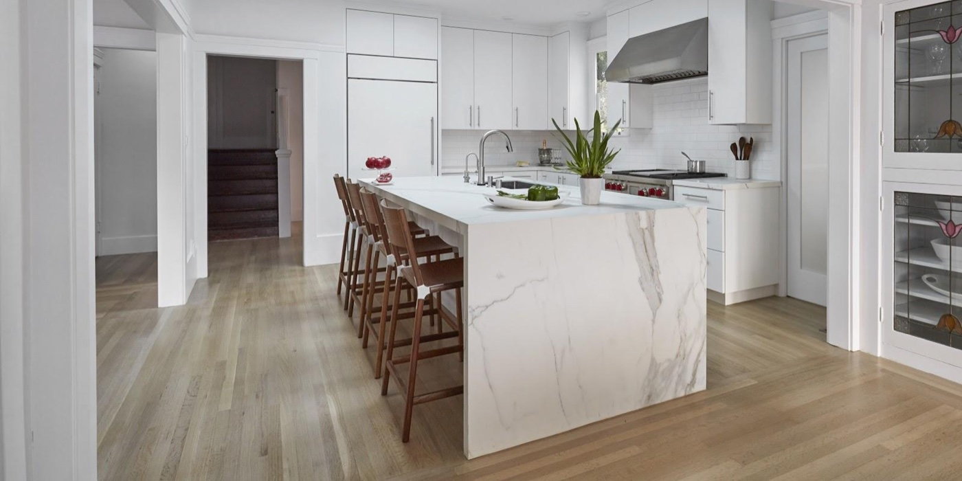 Upscale Kitchen Remodeling Trends for the East Bay Area: White Marble: Custom Kitchens by John Wilkins