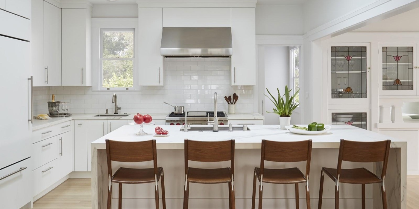 Upscale Kitchen Remodeling Trends for the East Bay Area: White Tile: Custom Kitchens by John Wilkins