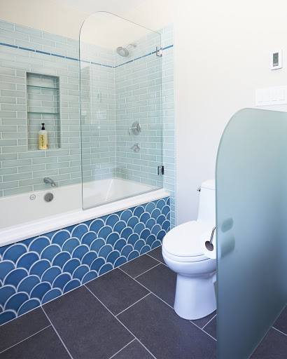 Luxury Bathroom Remodels in the East Bay - Pivoting Shower Screen - Bathroom - Custom Kitchens