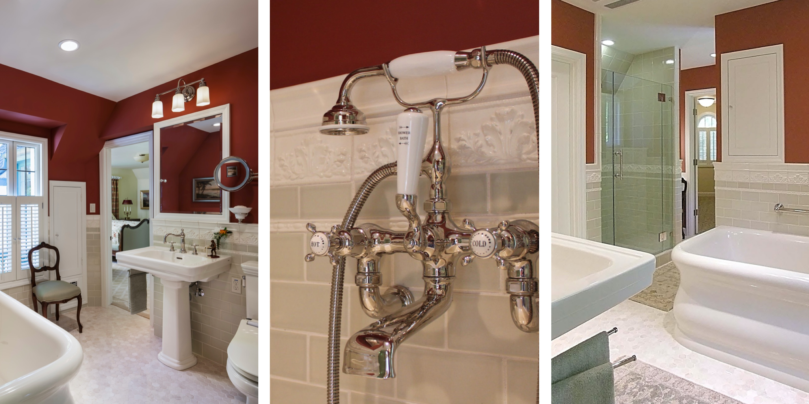 Luxury Bathroom Remodels in the East Bay - Waterworks Empire Tub - Rohl Edwardian Collection Faucet - Separate Shower and Bathtub - Master Bathroom - Custom Kitchens